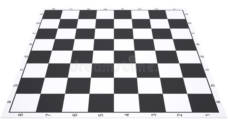 Leeres Schachbrett stock abbildung