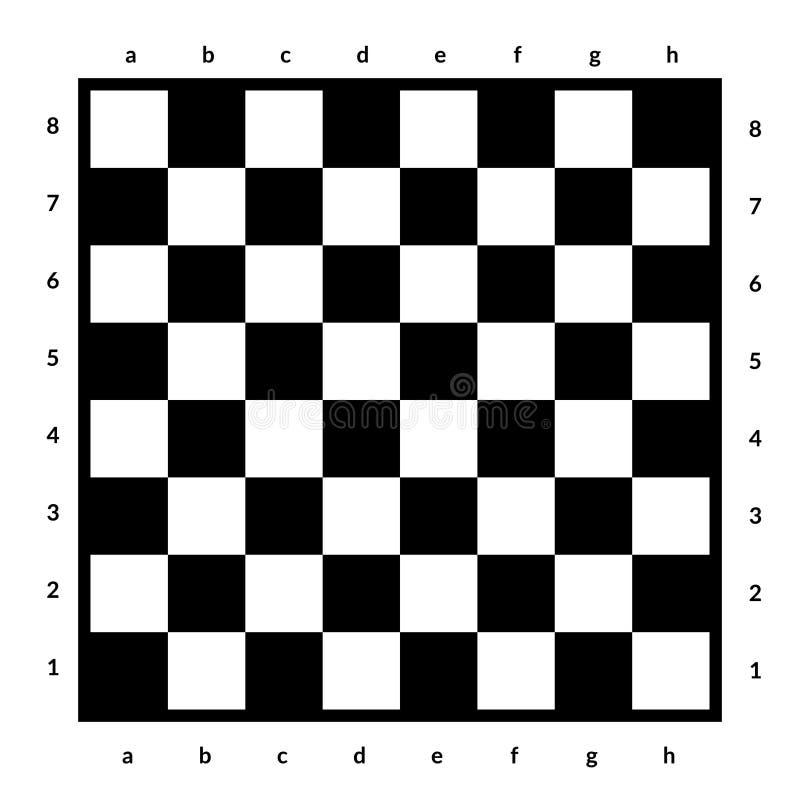 Leeres Schachbrett lokalisiert Brett für Schach oder Kontrolleurspiel Strategiespielkonzept Computererzeugtes Bild lizenzfreie abbildung