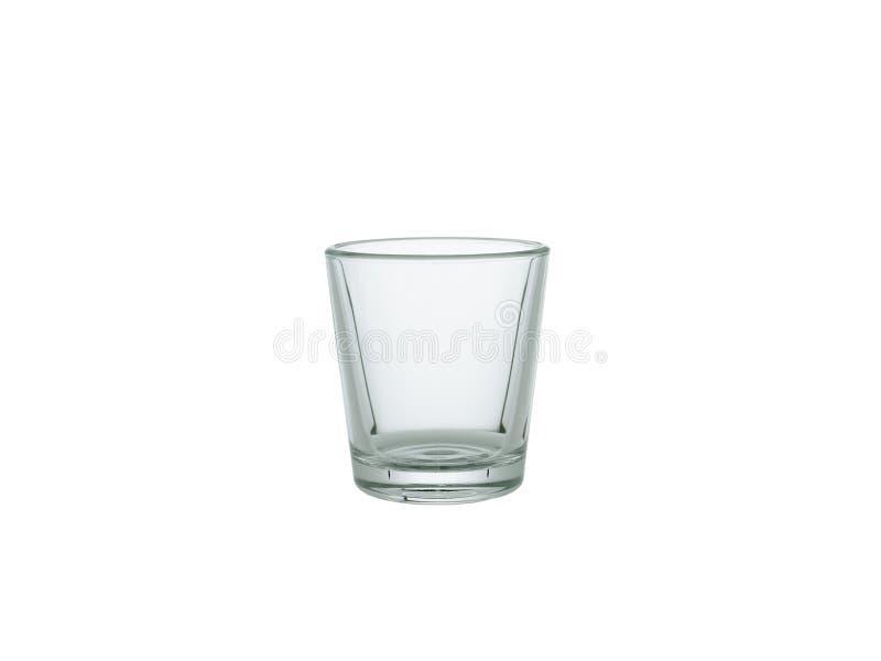 Leeres Schnapsglas lokalisiert auf weißem Hintergrund lizenzfreie stockfotos