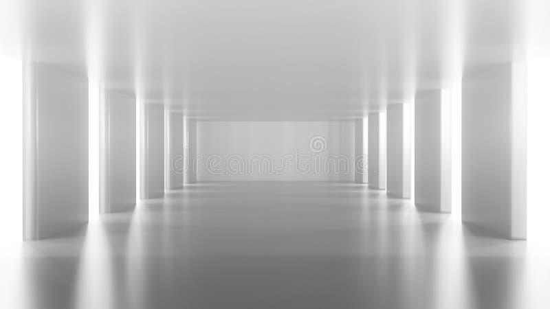 Leeres Silberzimmer stock abbildung