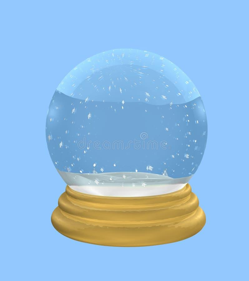 Leeres Snowglobe mit Ausschnitts-Pfad lizenzfreie abbildung