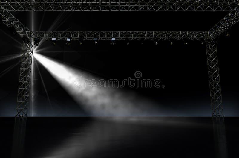 Leeres Stadium Spotlit stockfotografie