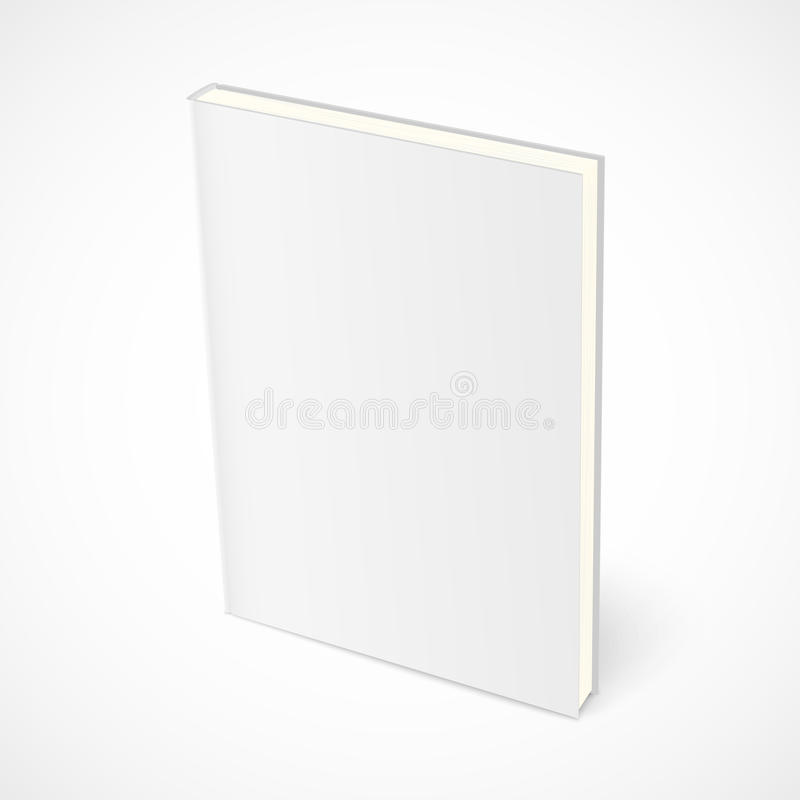 Leeres stehendes Buch mit weißer Abdeckung lizenzfreie abbildung