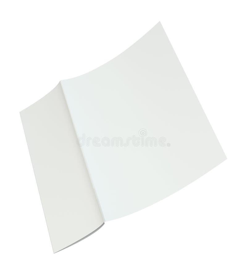 Leeres Weiß ausgebreitetes Papier A4 zerknittert Wiedergabe 3d vektor abbildung
