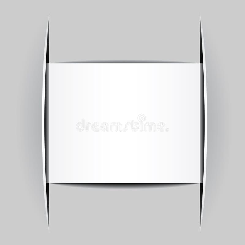 Leeres Weiß befestigtes Papier vektor abbildung
