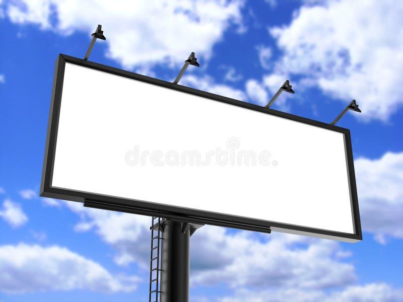 Leeres Weiß der Anschlagtafel für Werbung- im Freienplakat oder leerer Anschlagtafelanzeigenspott herauf Schablone lizenzfreie abbildung