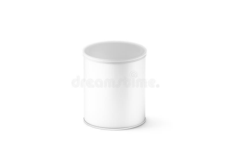 Leeres weißes kleines Kartonzylinder-Kastenmodell, lizenzfreie stockfotos