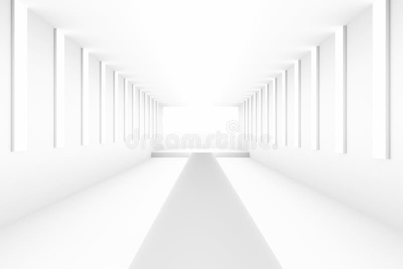 Leeres weißes leeres Podium für Planhintergrund Hintergrunddesignschablonen-PR-freien Raumes lizenzfreie abbildung