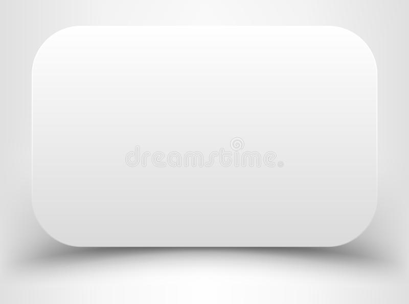 Leeres weißes Rechteck mit gerundeten Ecken stock abbildung