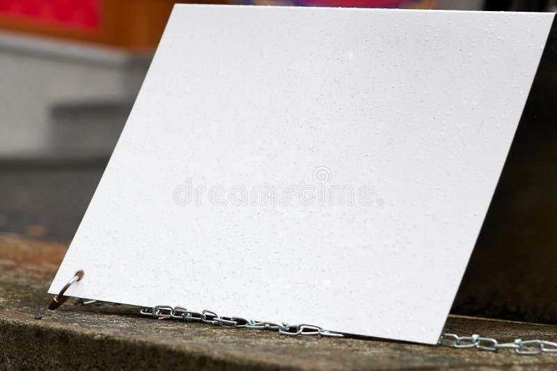 Leeres weißes Zeichen lizenzfreie stockfotografie