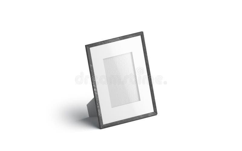 Leeres weißes Tabellenfoto-Rahmenmodell, lokalisierte, lizenzfreie abbildung