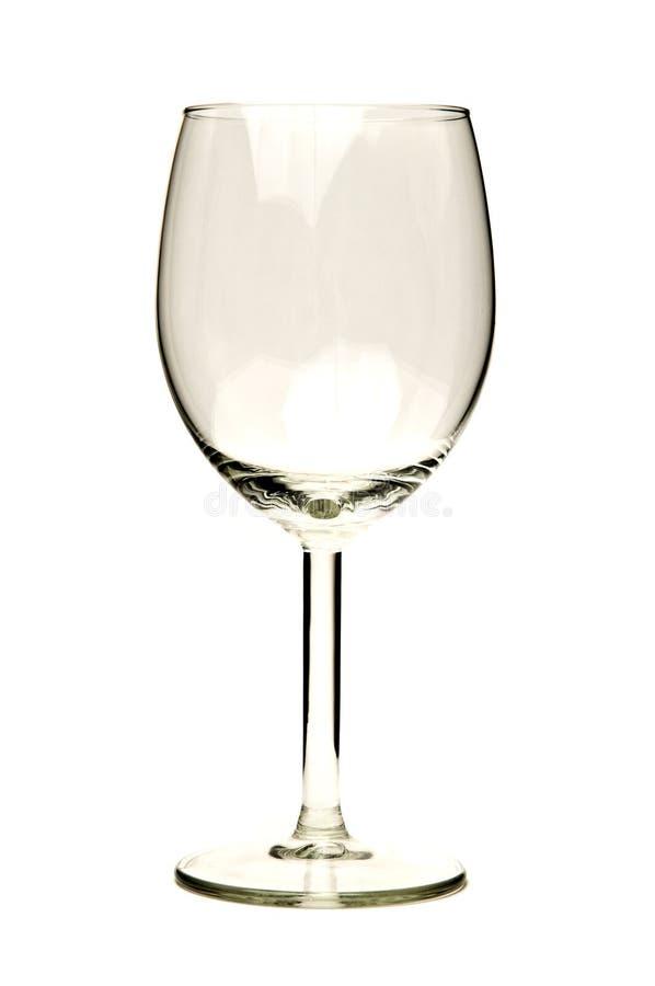 Leeres Weinglas lizenzfreies stockbild
