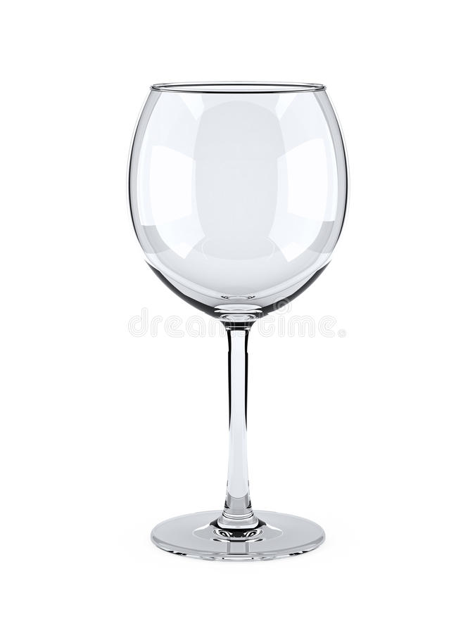 Leeres Weinglas vektor abbildung