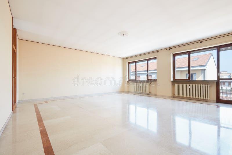leeres wohnzimmer mit marmorboden stockbild bild von. Black Bedroom Furniture Sets. Home Design Ideas