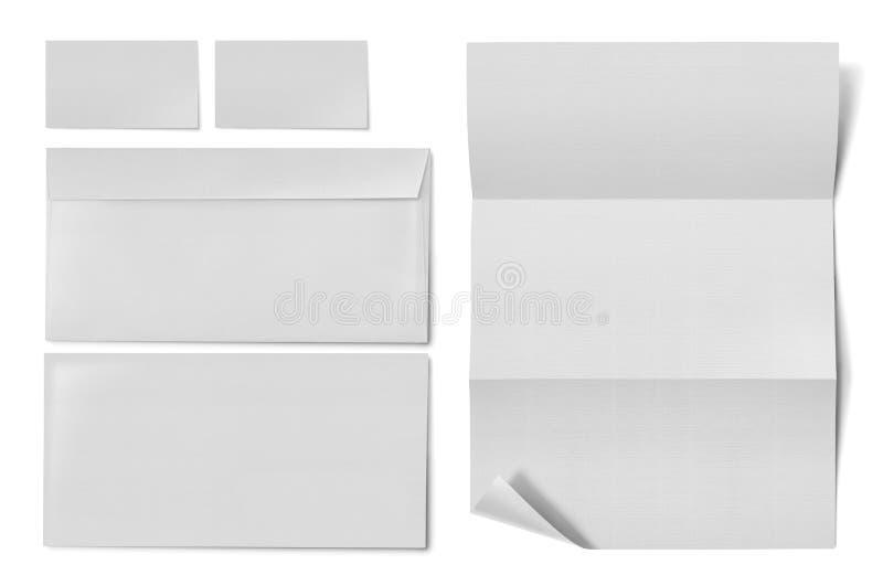 Leerkartensatz-Briefpapier Unternehmens-Identifikation lizenzfreies stockfoto