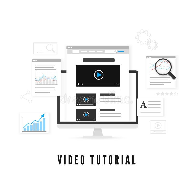 Leerprogramma en cursus online concept Online Onderwijs Vector illustratie stock illustratie