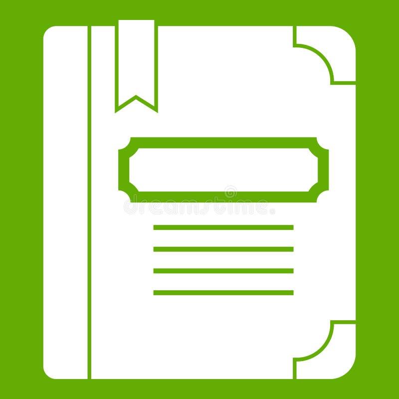 Download Leerprogramma Met Groen Referentiepictogram Vector Illustratie - Illustratie bestaande uit encyclopedie, koop: 107707397