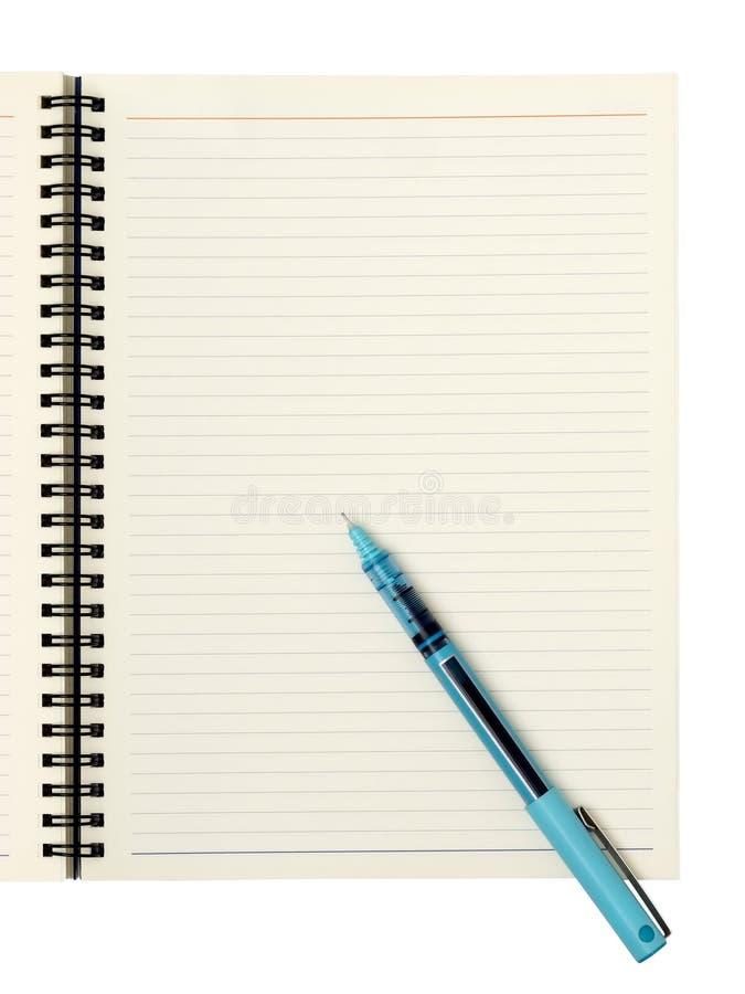 Leerseite Mit Stift Stockbilder