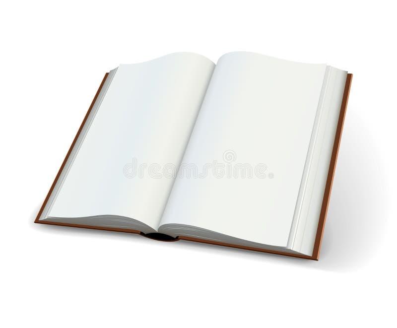 Leerseiten der Verbreitung der offenen Bücher vektor abbildung