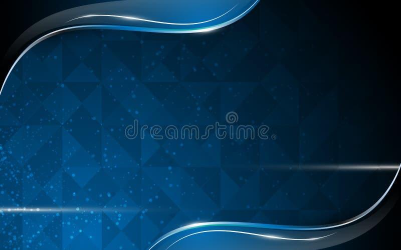 Leerstelle-Hintergrundschablone der Polygondesignzusammenfassung lizenzfreie abbildung
