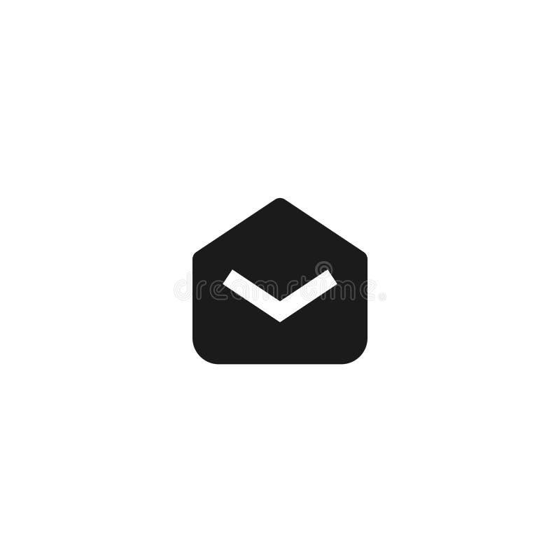 Lees e-mailpictogramontwerp het geopende symbool van de postenvelop de eenvoudige schone professionele vectorillustratie van het  stock illustratie