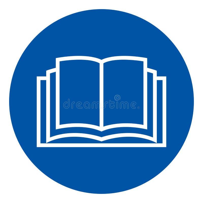 Lees het Teken van het het Handboeksymbool van de Exploitant, VectordieIllustratie, op Wit Etiket wordt geïsoleerd Als achtergron stock illustratie