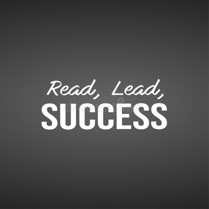 Lees, leid, slaag Inspirational en motivatiecitaat vector illustratie