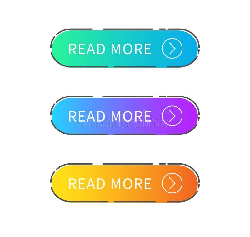 Lees Meer Knoop op witte achtergrond Modern ontwerp Vector illustratie stock illustratie