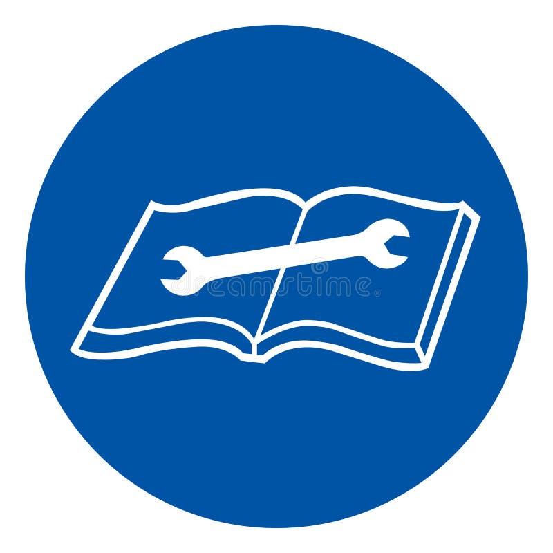 Lees Technisch Handsymboolteken, VectordieIllustratie, op Wit Etiket wordt geïsoleerd Als achtergrond EPS10 stock illustratie