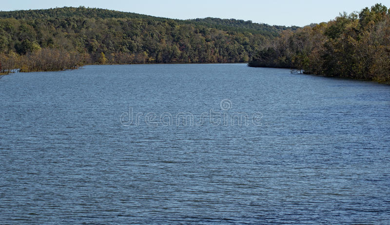 Leesville Lake, Virginia, USA. Leesville Lake is a reservoir in Virginia, USA used for Hydro-Electric power generation in conjunction with Smith Mountain Lake as stock photo