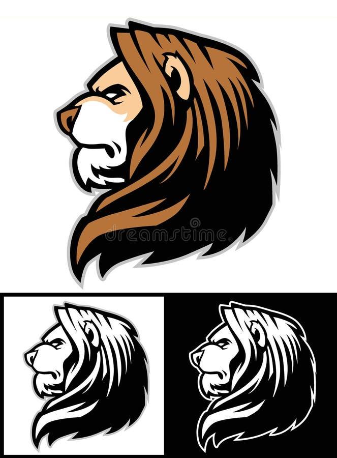 Leeuw hoofdmascotte royalty-vrije illustratie