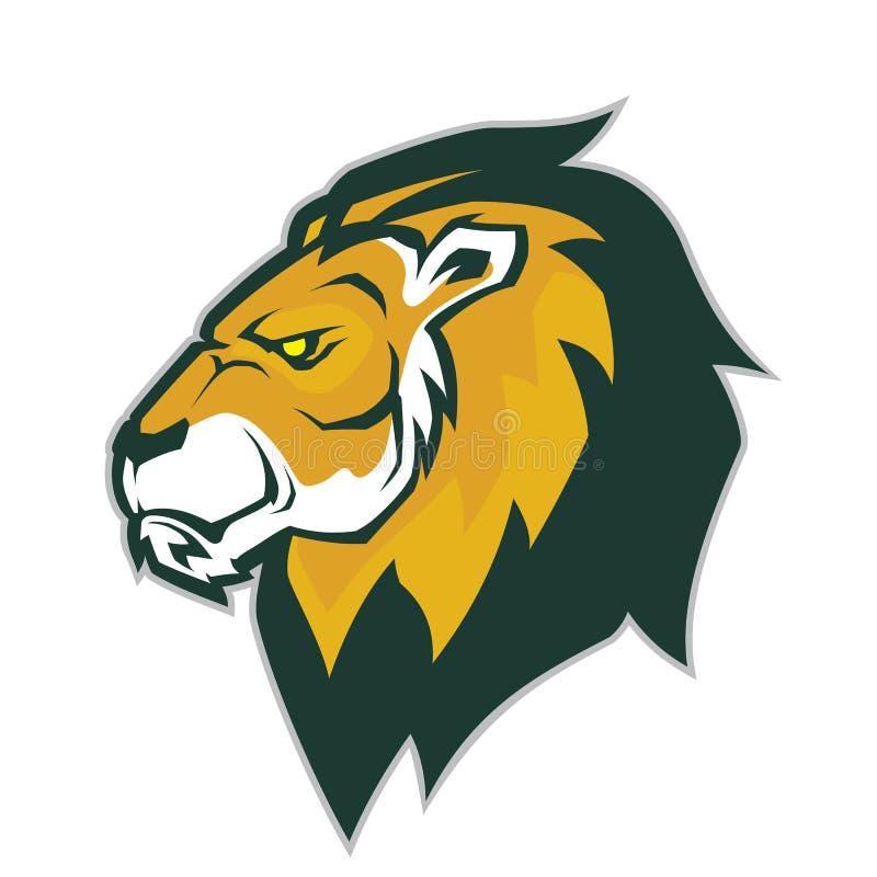 Leeuw hoofdmascotte vector illustratie