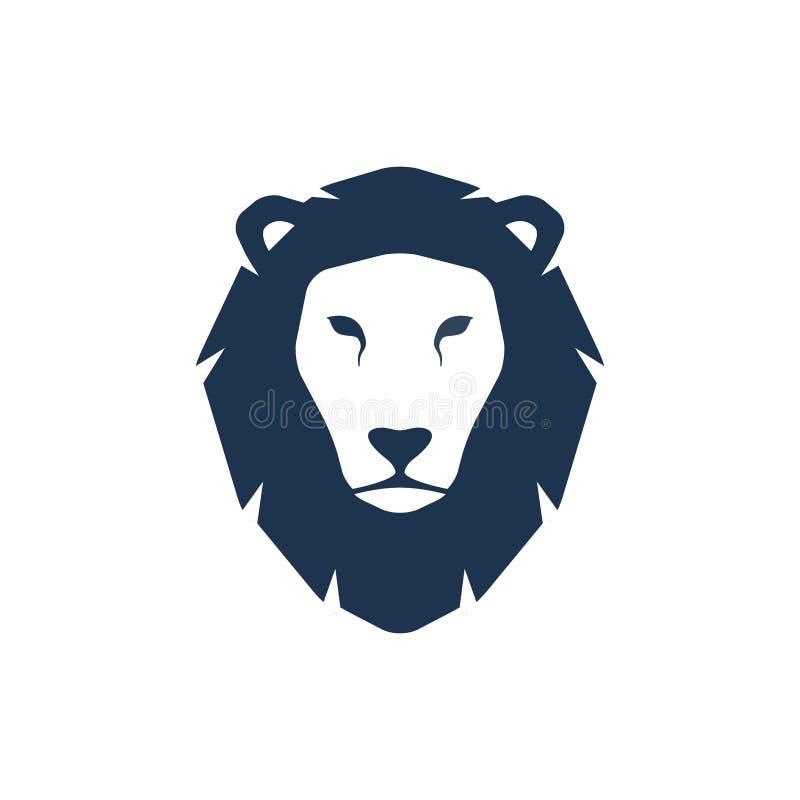 Leeuw hoofdsilhouet vector illustratie