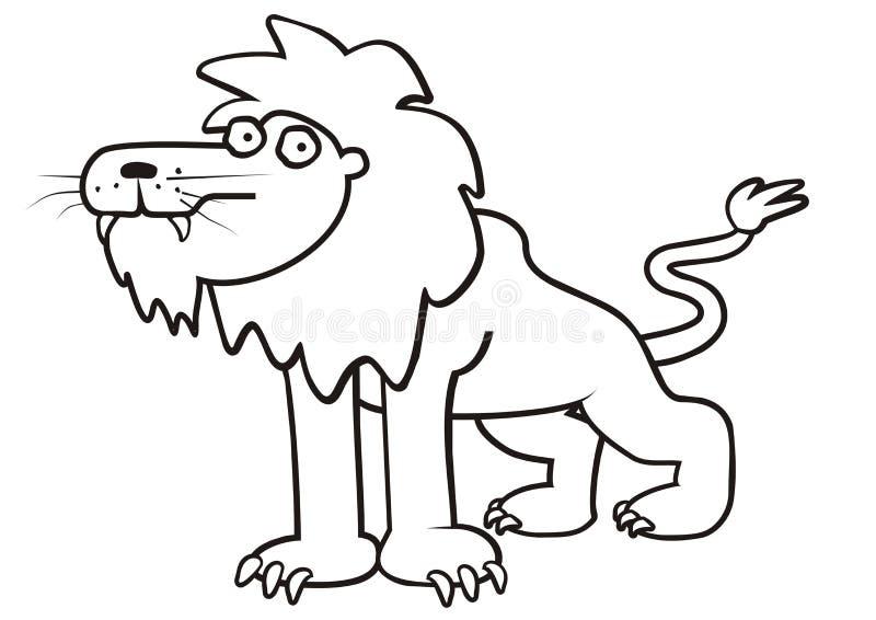 Leeuw-kleuring boek royalty-vrije illustratie