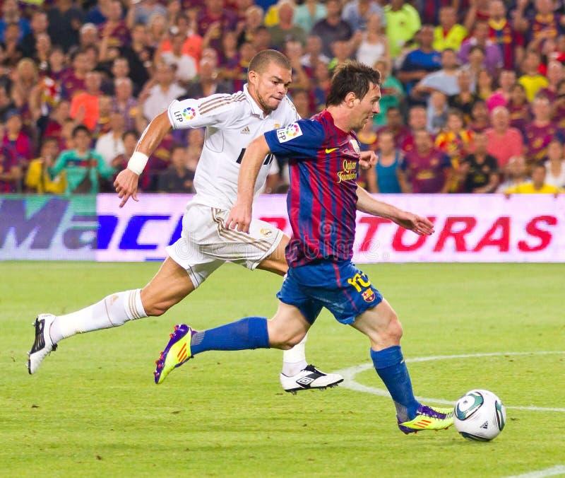 Leeuw Messi in actie stock foto's