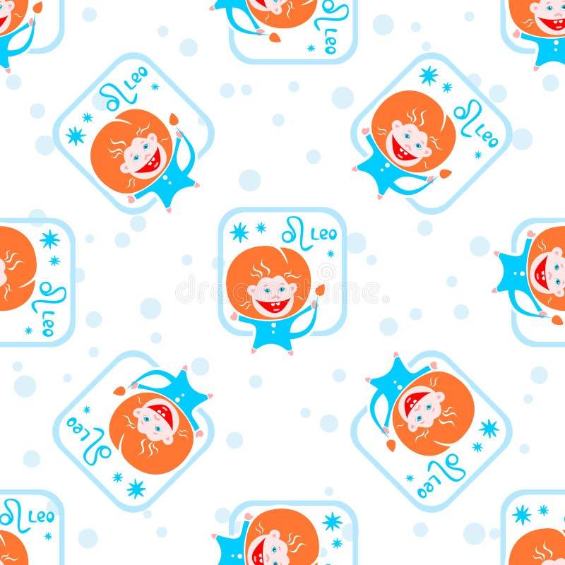 Leeuw naadloos patroon stock illustratie