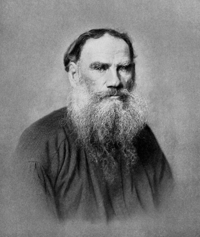 Leeuw Tolstoy royalty-vrije stock foto