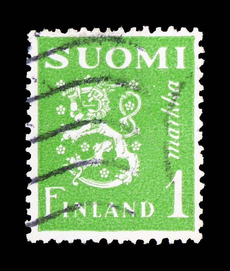 Leeuw - Type II - STIF-de Druk van de Perscompensatie, Wapenschild serie, circa 1974 royalty-vrije stock foto's