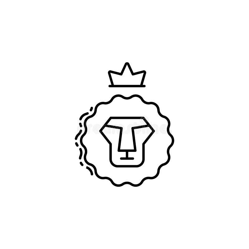 Leeuw van Judah-pictogram Element van Joods pictogram voor mobiel concept en Web apps De dunne lijnleeuw van Judah-pictogram kan  vector illustratie