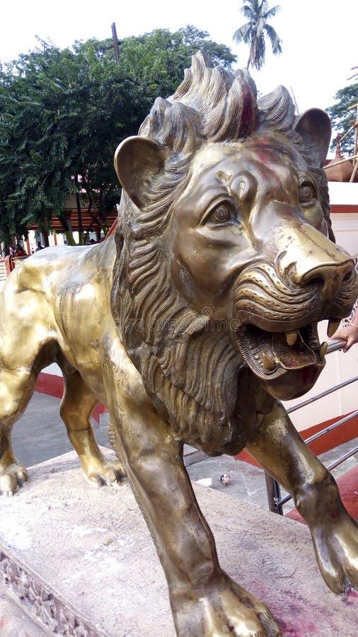 Leeuw van Standbeeld stock afbeelding