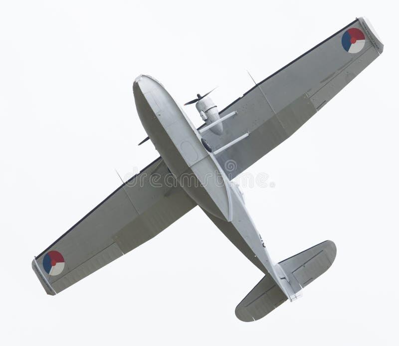 LEEUWARDEN, holandie - CZERWIEC 10: Konsolidujący PBY Catalina wewnątrz obrazy stock