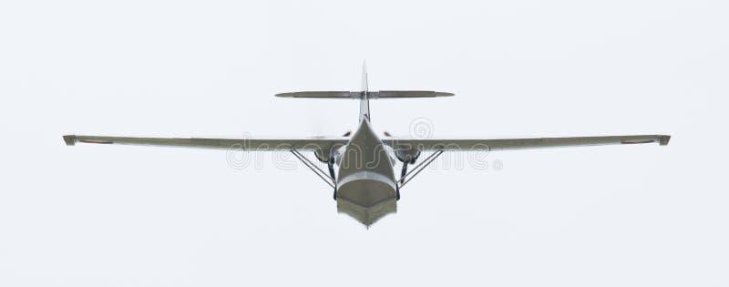 LEEUWARDEN, holandie - CZERWIEC 10: Konsolidujący PBY Catalina wewnątrz obraz royalty free