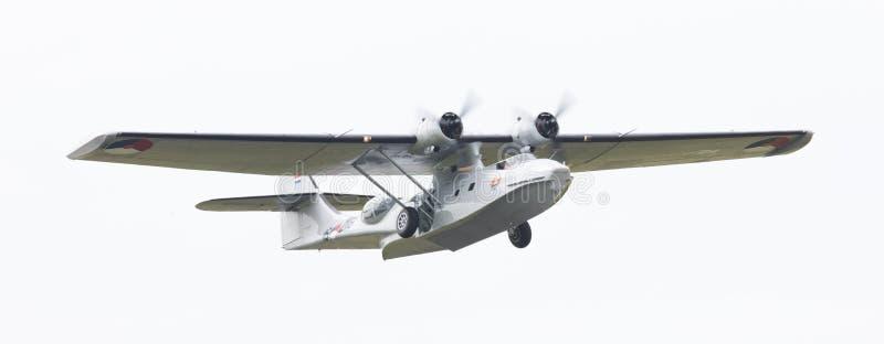LEEUWARDEN, holandie - CZERWIEC 10: Konsolidujący PBY Catalina wewnątrz obrazy royalty free