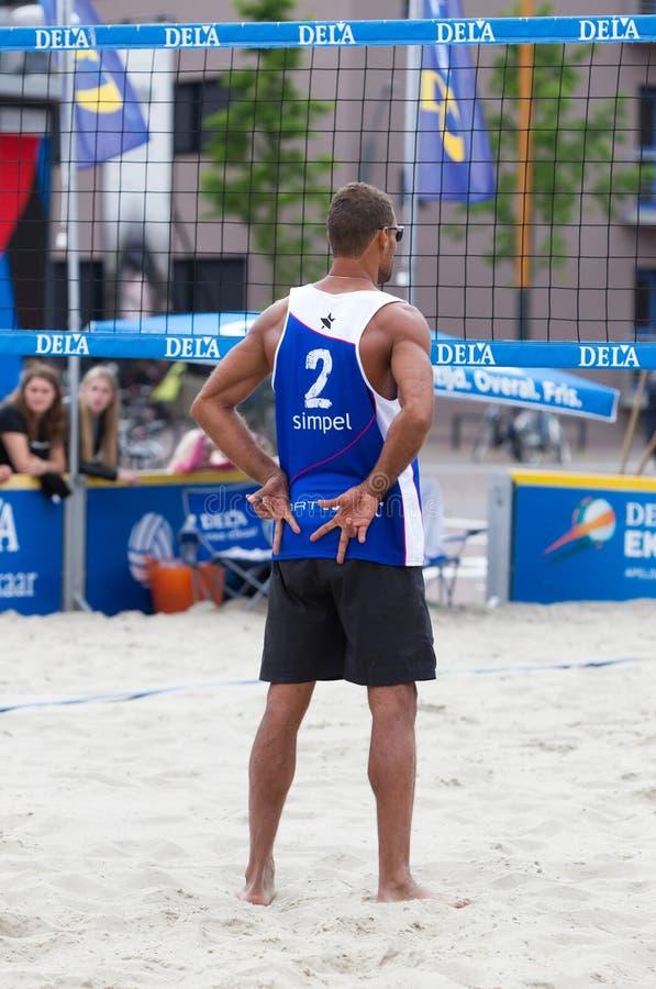 Leeuwarden, los Países Bajos - 10 de junio: Playe del voleibol de Bazilian imagenes de archivo
