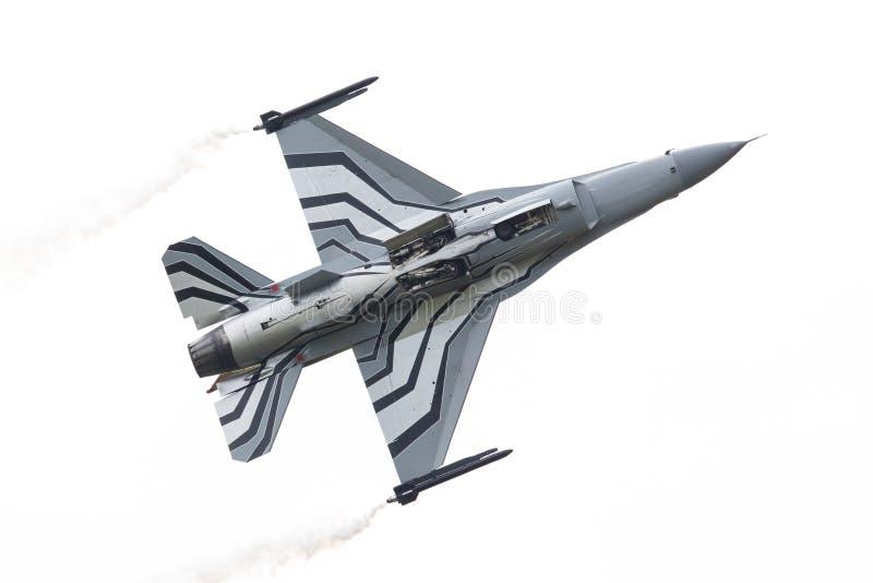 LEEUWARDEN NETHERLANDSEN-JUNE 10, 2016: Belgien - flygvapenG arkivbild
