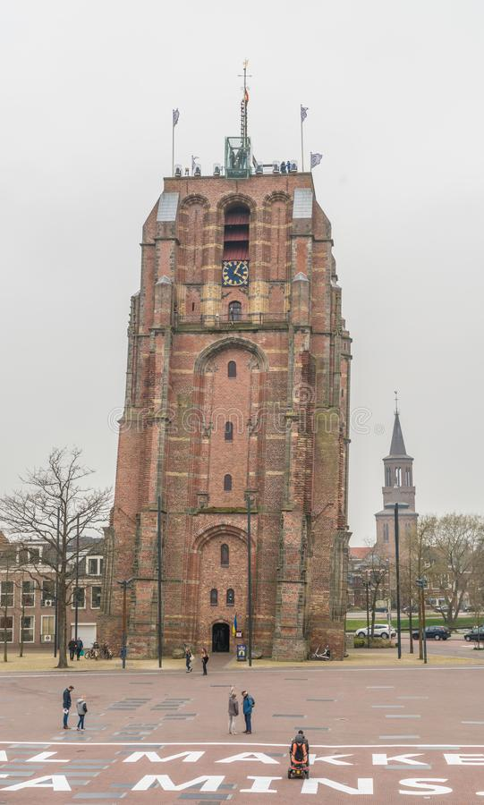 Leeuwarden, os Países Baixos, o 14 de abril de 2018, visita dos povos fotografia de stock royalty free