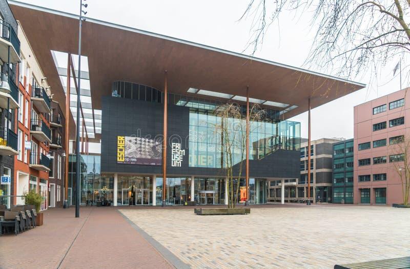 Leeuwarden, os Países Baixos, o 14 de abril de 2018, o Wilhelminaplein fotografia de stock royalty free