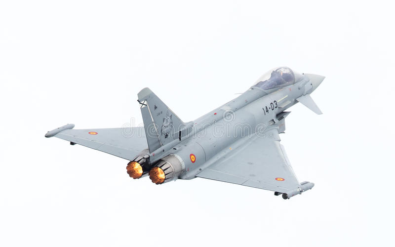 LEEUWARDEN, PAESI BASSI - 10 GIUGNO: Aeronautica spagnola Eurofig immagini stock