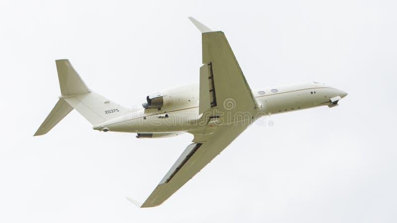 LEEUWARDEN, PAYS-BAS - 10 JUIN : L'Armée de l'Air Gulfstream aérien photographie stock libre de droits