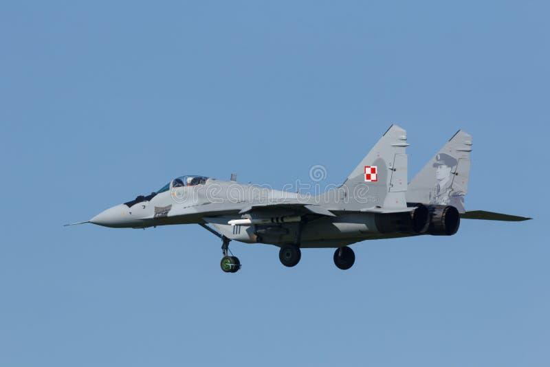 Leeuwarden, Pays-Bas le 18 avril 2018 : Une Armée de l'Air polonaise MiG-2 image libre de droits